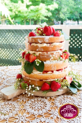 Naked Wedding Cake - Simple, rustic ,chic & down right perfect!